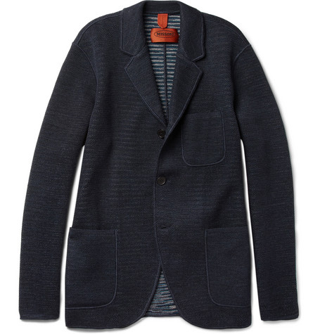 Missoni Unstructured Textured-Knit Wool Blazer