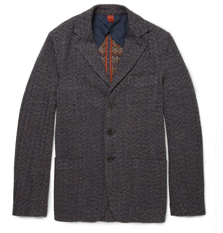 Missoni Knitted Wool-Blend Herringbone Jacket