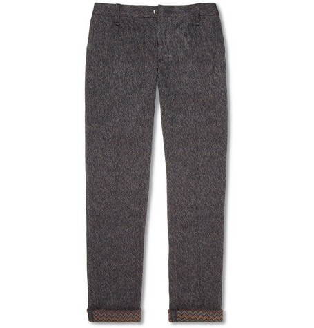 Missoni Slim-Fit Knitted Wool-Blend Herringbone Trousers