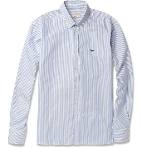 Maison Kitsuné Striped Button-Down Collar Oxford Shirt