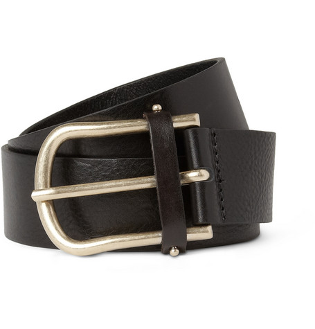 Maison Kitsuné Full-Grain Leather Belt