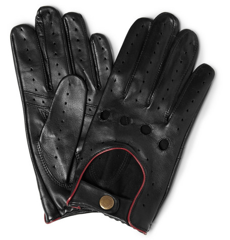 Dents Perforated Leather Driving Gloves