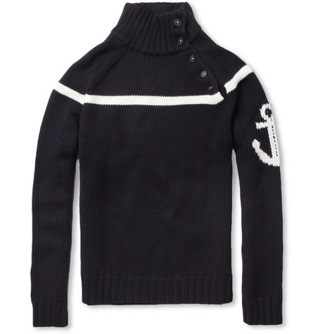 Faconnable Merino Wool Anchor Sweater