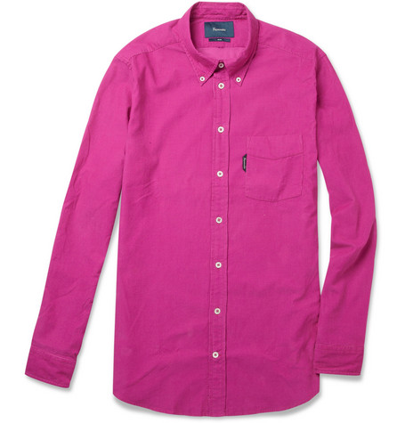 Faconnable Slim-Fit Fine-Corduroy Button-Down Collar Shirt