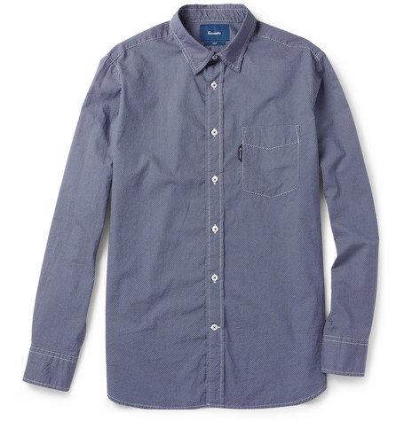 Faconnable Swiss Dot-Print Cotton Shirt