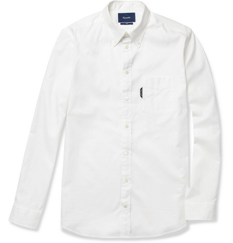 Faconnable Button-Down Collar Cotton Shirt