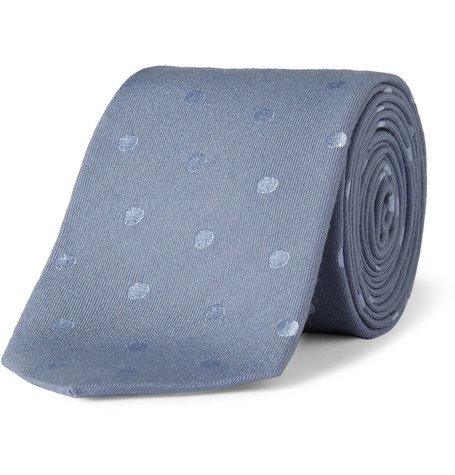 Paul Smith Shoes & Accessories Polka-Dot Woven-Silk Tie