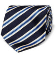 Paul Smith Shoes & Accessories - Striped Woven-Silk Tie