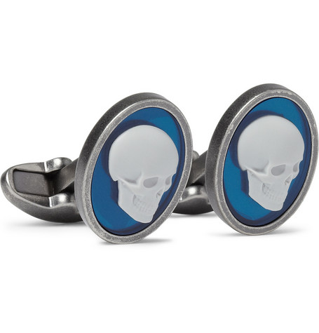 Paul Smith Shoes & Accessories Skull Enamelled Metal Cufflinks
