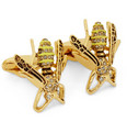 Paul Smith Shoes & Accessories Bee-Shaped Brass Cufflinks