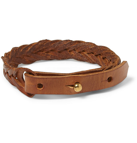 Paul Smith Shoes & Accessories Burnished Woven-Leather Bracelet