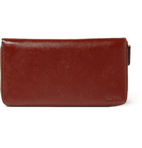 Paul Smith Shoes & Accessories Textured-Leather Travel Wallet
