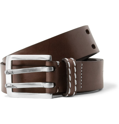 Paul Smith Shoes & Accessories Double-Prong Leather Belt