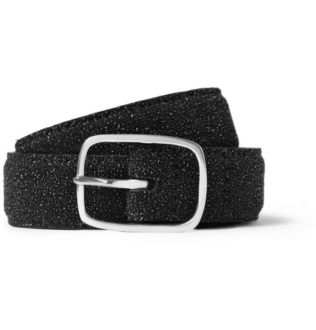 Paul Smith Shoes & Accessories Glitter-Finish Leather Belt