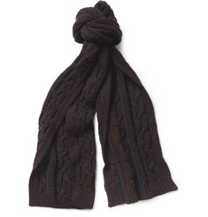 Paul Smith Shoes & Accessories Cable-Knit Wool Scarf
