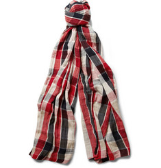 Paul Smith Shoes & Accessories Double-Sided Woven-Cotton Scarf