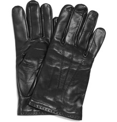 Paul Smith Shoes & Accessories Leather Wool-Lined Gloves