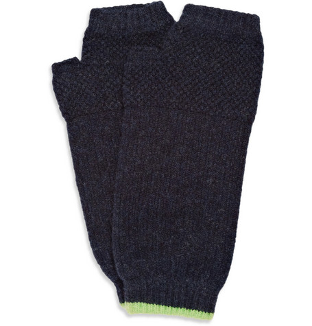 Paul Smith Shoes & Accessories Moss-Stitch Wool Fingerless Gloves