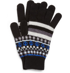 Paul Smith Shoes & Accessories Fair Isle Lambswool Gloves