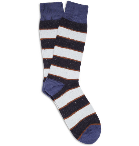 Paul Smith Shoes & Accessories Striped Cotton and Wool-Blend Socks