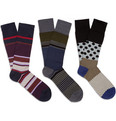 Paul Smith Shoes & Accessories - Three-Pack Cotton-Blend Socks
