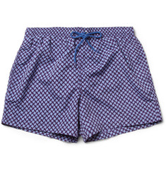 Paul Smith Shoes & Accessories Short-Length Geometric-Print Swim Shorts