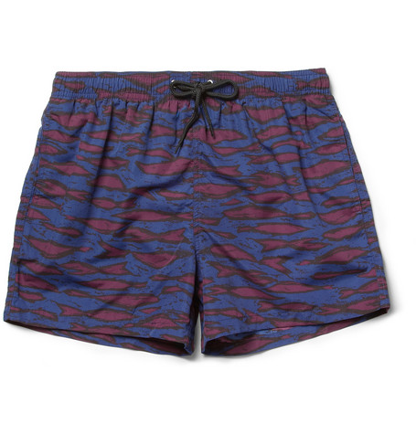 Paul Smith Shoes & Accessories Short-Length Printed Swim Shorts