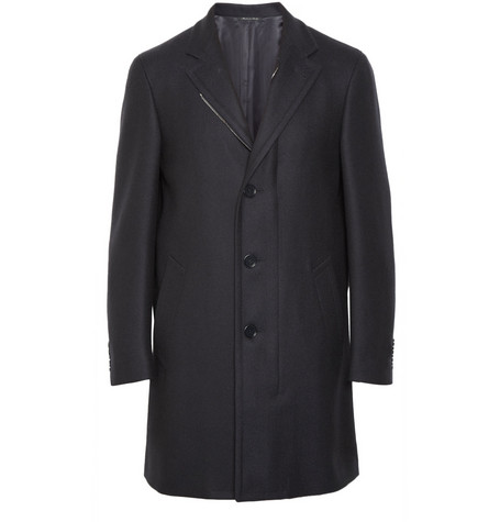 Canali Water-Resistant Wool Coat