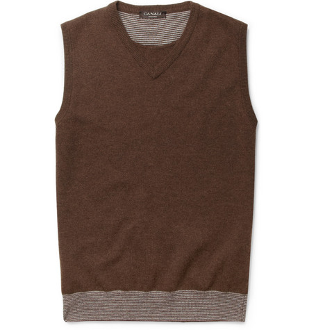 Canali Sleeveless Wool Sweater