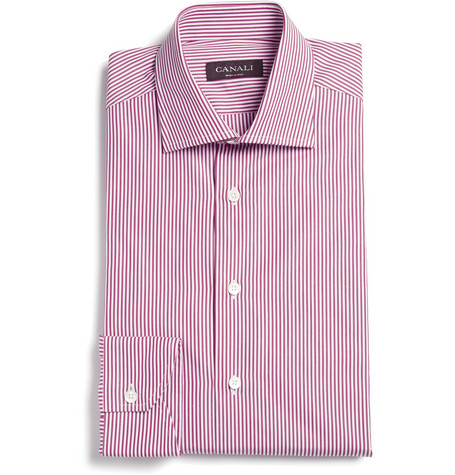 Canali Bengal Stripe Cotton Shirt