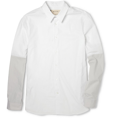 Marni Contrast-Sleeve Cotton Shirt