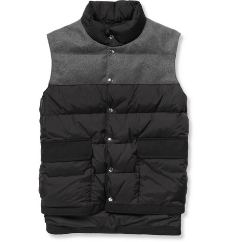 Marni Quilted Shell and Felt Gilet