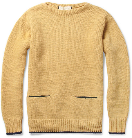 Marni Pocket-Front Wool-Blend Sweater