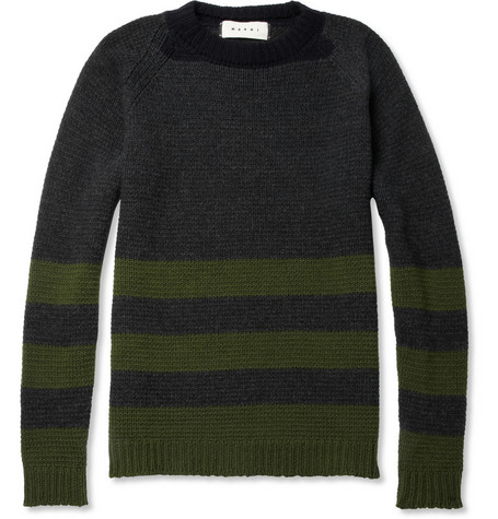 Marni Striped Wool and Cashmere-Blend Sweater