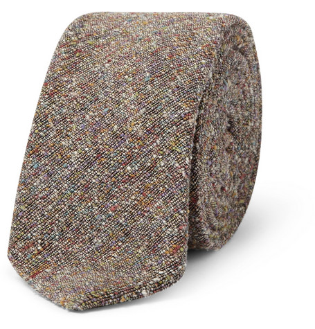 Marwood Slim Slub Silk Tie