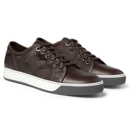 Lanvin Laser-Finished Leather Sneakers