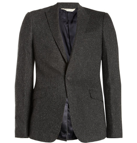 Rag & bone Ellington Slim-Fit Flecked Herringbone Blazer