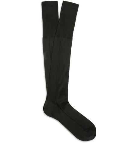 Bresciani Knee-Length Silk Socks