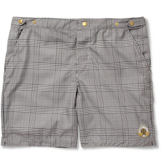 Robinson les Bains - Oxford Long Check Mid-Length Swim Shorts