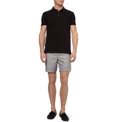 Robinson les Bains Oxford Long Check Mid-Length Swim Shorts