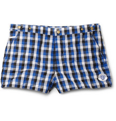 Robinson les Bains Oxford Short-Length Check Swim Shorts