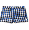 Robinson les Bains - Oxford Short-Length Check Swim Shorts