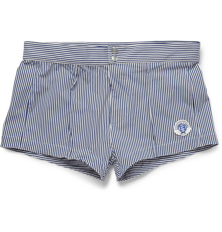 Robinson les Bains Capri Short-Length Striped Swim Shorts