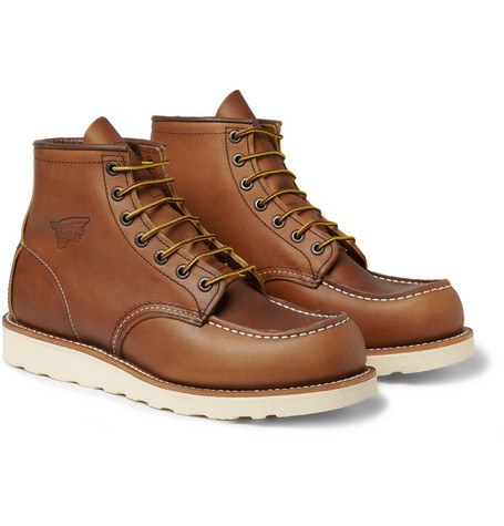 Red Wing Shoes 875 Moc Rubber-Soled Leather Boots