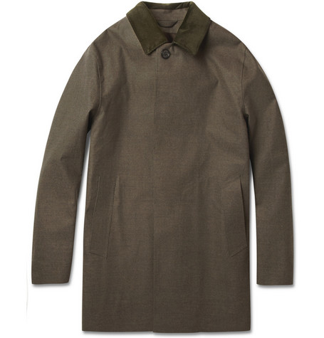 Mackintosh Dunoon Handmade Wool and Waterproof Cotton Rain Coat