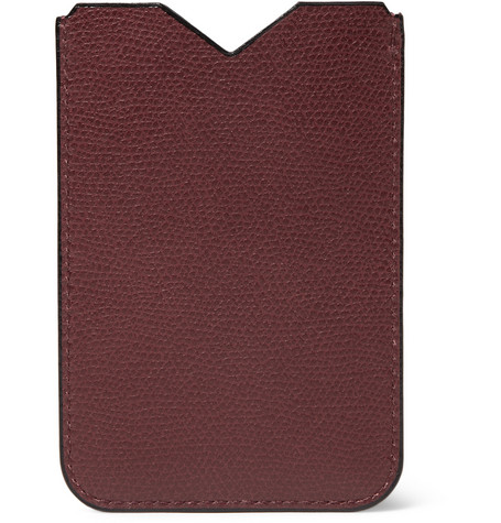 Valextra Textured-Leather iPhone 4 Case