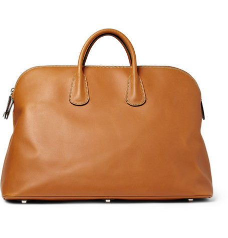 Valextra Leather Holdall Bag