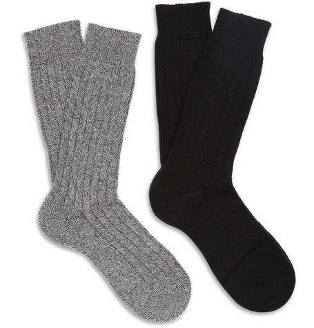 Pantherella Two-Pack Cashmere-Blend Socks