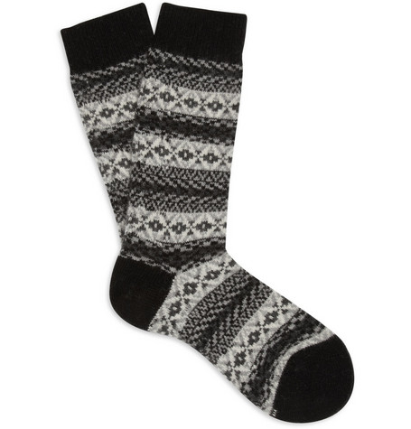 Pantherella Fair Isle Cashmere-Blend Socks
