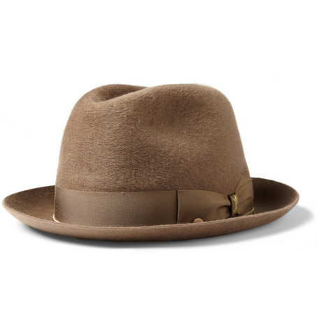 Borsalino Cervelt and Wool-Blend Felt Fedora